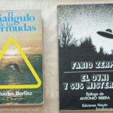 Libros de segunda mano: EL OVNI Y SUS MISTERIOS.- ZERPA, FABIO ( + DE REGALO : TRIANGULO BERMUDAS ). Lote 265829914