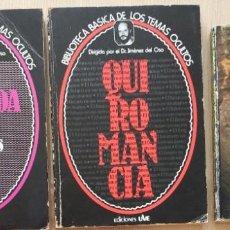 Libros de segunda mano: ATLANTIDA + QUIROMANCIA - BIBLIO TEMAS OCULTOS JIMENEZ DEL OSO+ NUEVA OLA PLATILLOS VOLANTES -BORRET. Lote 265833314