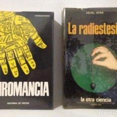 Libros de segunda mano: QUIROMANCIA. KARMADHARAYA. LA RADIESTESIA. MICHEL MOINE.. Lote 267688719