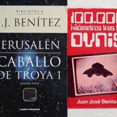 Libros de segunda mano: LOTE 3 LIBROS JUAN JOSE BENITEZ CABALLO DE TROYA JERUSALEN 100000 KILOMETROS TRAS LOS OVNIS ENVIADO. Lote 269269618