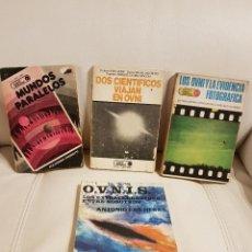 Libros de segunda mano: 4 LIBROS ÚNICOS E INENCONTRABLES SOBRE UFOLOGÍA, OVNIS Y EXTRATERRESTRES - ESPECIAL COLECCIONISTAS. Lote 274373708