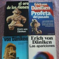 Libros de segunda mano: ERICH VON DANIKEN : EL ORO DE LOS DIOSES, EL MENSAJERO DE LOS DIOSES, PROFETA DEL PASADO Y LAS APAR.. Lote 277192028