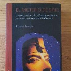 Libros de segunda mano: UFOLOGIA. EL MISTERIO DE SIRIO TEMPLE, ROBERT K. G. PUBLICADO POR TIMUN MAS., 1998. Lote 286825773