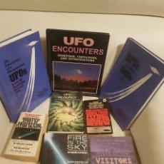 Libros de segunda mano: LOTE DE 8 MÍTICOS LIBROS EN INGLES SOBRE UFOLOGÍA - MUY RAROS - OVNIS - EXTRATERRESTRES - UFOS. Lote 287805563