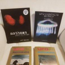 Libros de segunda mano: LOTE DE 4 MÍTICOS LIBROS EN INGLES SOBRE UFOLOGÍA - MUY RAROS - OVNIS - EXTRATERRESTRES - UFOS. Lote 287805868