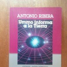 Libros de segunda mano: UMMO INFORMA A LA TIERRA, ANTONIO RIBERA, OTROS HORIZONTES PLAZA & JANES, 1987. Lote 288071318