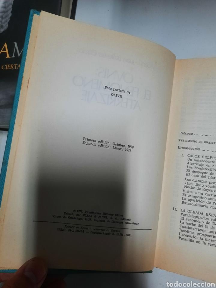 Libros de segunda mano: Ovnis: el fenómeno aterrizaje - Vicente Juan Ballester Olmo. Plaza & Janes. 1979 - Foto 4 - 288345953