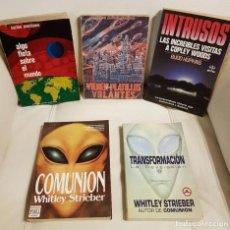 Libros de segunda mano: 5 LIBROS DE UFOLOGÍA MUY BUSCADOS, ESPECIAL COLECCIONISTAS - OVNIS, EXTRATERRESTRES, ABDUCCION. Lote 295357953