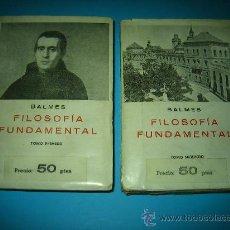 Libros de segunda mano: FILOSOFIA FUNDAMENTAL DE BALMES OBRA COMPLETA EN DOS TOMOS INTONSO. Lote 26303080
