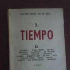 Libros de segunda mano: EL TIEMPO, POR BEATRIZ HILDA GRAD RUIZ - EDICIONES CLEPSIDRA - ARGENTINA - 1987. Lote 26284426