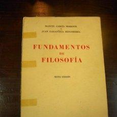 Libros de segunda mano: FUNDAMENTOS DE LA FILOSOFIA E HISTORIA DE LOS SISTEMAS FILOSOFICOS, 6 ED.ESPASA CALPE,MADRID,1967. Lote 16202932