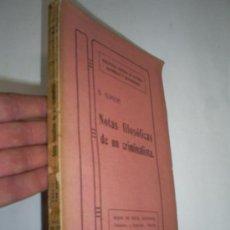 Libros de segunda mano: NOTAS FILOSÓFICAS DE UN CRIMINALISTA BERNARDINO ALÍMENA HIJOS DE REUS 1913 RM41750. Lote 26916302