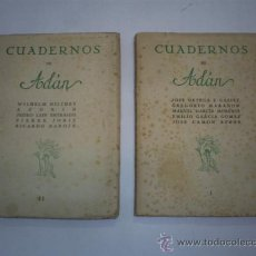 Libros de segunda mano: CUADERNOS DE ADÁN I Y II 2 TOMOS ADÁN 1944 - 1945 JOSÉ ORTEGA Y GASSET GREGORIO MARAÑON VVAA RM41308. Lote 26916316