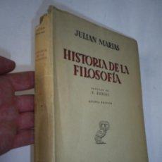 Libros de segunda mano: HISTORIA DE LA FILOSOFÍA JULIÁN MARÍAS REVISTA DE OCCIDENTE 1950 RM41254. Lote 21692800