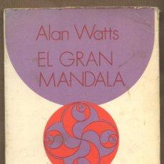 Libros de segunda mano: EL GRAN MANDALA. ENSAYOS SOBRE LA MATERIALIDAD. ALAN WATTS. EDITORIAL KAIRÓS.. Lote 22081087