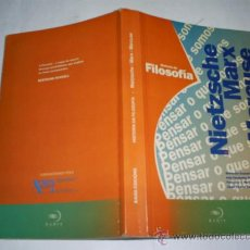 Libros de segunda mano: HISTORIA DA FILOSOFÍA. F. NIETZSCHE, K. MARX. H. MARCUSE BAHÍA EDICIÓNS, 1994 RM48729. Lote 24031766