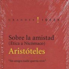 Libros de segunda mano: SOBRE LA AMISTAD (ÉTICA A NICÓMACO) DE ARISTÓTELES - EDICIONES FOLIO (NUEVO). Lote 140475950