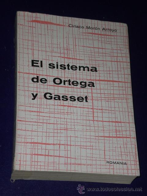 EL SISTEMA DE ORTEGA Y GASSET. (Libros de Segunda Mano - Pensamiento - Filosofía)