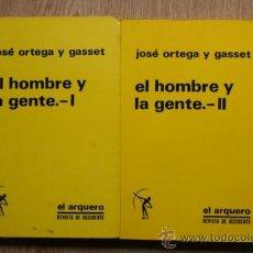 Libros de segunda mano: EL HOMBRE Y LA GENTE. JOSÉ ORTEGA Y GASSET. . Lote 27356528
