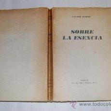Libros de segunda mano: SOBRE LA ESENCIA. XAVIER ZUBIRI RM27709. Lote 29671030