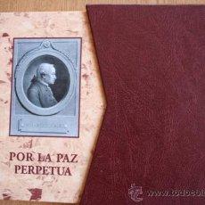 Libros de segunda mano: POR LA PAZ PERPETUA. MANUEL KANT. . Lote 29777772