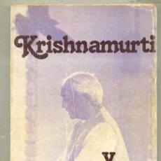 Libros de segunda mano: KRISHNAMURTI Y LA EDUCACIÓN (EDHASA, 1979) . Lote 31186394