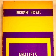 Libri di seconda mano: ANÁLISIS DEL ESPÍRITU, POR EL FILÓSOFO Y ACTIVISTA BERTRAND RUSSELL.. Lote 31261293