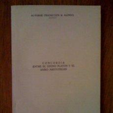 Libros de segunda mano: CONCORDIA ENTRE EL DIVINO PLATÓN Y EL SABIO ARISTOTELES, DE AL-FARABI. Lote 32763508