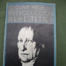 Libros de segunda mano: HEGEL: INTRODUCCIÓN A LA ESTÉTICA, 1ªED.1971 PENÍNSULA. Lote 33541129