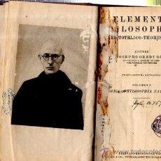 Libros de segunda mano: ELEMENTA PHILOSOPHIAE, ARISTOTELICO-THOMISTICAE, JOSEPHO GREDT, VOL 1, FRIBURGI BRISGOVIAE 1937. Lote 33798640