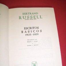 Libros de segunda mano: RUSSELL, BERTRAND - ESCRITOS BÁSICOS : 1903-1959. Lote 35610290