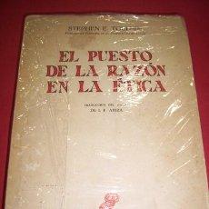 Libros de segunda mano: TOULMIN, STEPHEN. EL PUESTO DE LA RAZÓN ÉTICA. Lote 36102599