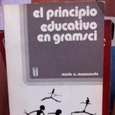 Libros de segunda mano: EL PRINCIPIO EDUCATIVO EN GRAMSCI (SALAMANCA, 1970). Lote 36482792