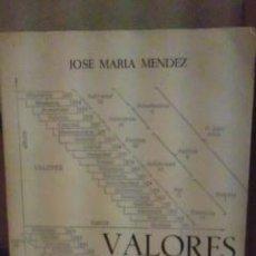 Libros de segunda mano: VALORES ÉTICOS (MADRID, 1978). Lote 37035605