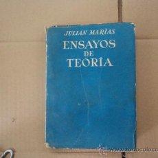 Libros de segunda mano: ENSAYOS DE TEORÍA.. Lote 37684578