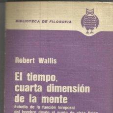 Libros de segunda mano: EL TIEMPO, CUARTA DIMENSIÓN DE LA MENTE. ROBERT WALLIS. EL ATENEO. ARGENTINA. 1976. Lote 38844338