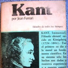 Libros de segunda mano: KANT O LA INVENCION DEL HOMBRE - JEAN FERRARI - EDAF EN 1981. . Lote 39040892