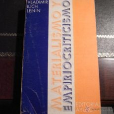 Libros de segunda mano: MATERIALISMO Y EMPIRIOCRITICISMO. V.I.LENIN. Lote 39925133