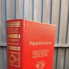 Livros em segunda mão: OBRAS COMPLETAS. DISCURSOS Y ARTICULOS. MIGUEL UNAMUNO. ESCELICER. Lote 42155251