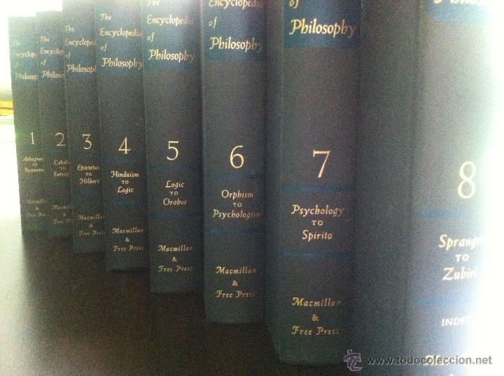 Libros de segunda mano: Important encyclopedia of philosophy.Paul edwards.Eight volumes in eight books.1967.Published USA - Foto 7 - 42271843
