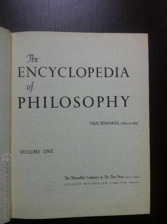Libros de segunda mano: Important encyclopedia of philosophy.Paul edwards.Eight volumes in eight books.1967.Published USA - Foto 10 - 42271843