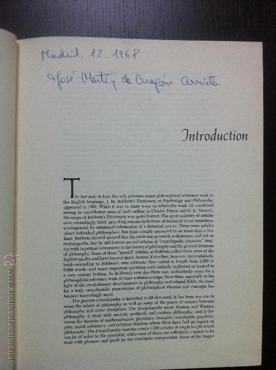 Libros de segunda mano: Important encyclopedia of philosophy.Paul edwards.Eight volumes in eight books.1967.Published USA - Foto 12 - 42271843