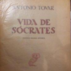 Libros de segunda mano: VIDA DE SOCRATES DE ANTONIO TOVAR. Lote 42314227