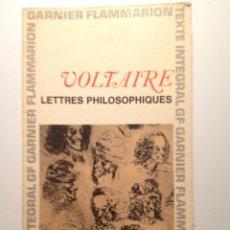 Libros de segunda mano: LETTRES PHILOSOPHIQUES - VOLTAIRE. Lote 42510638