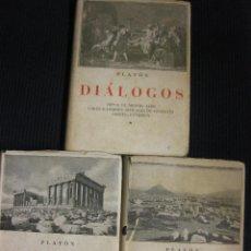 Libros de segunda mano: PLATON. DIALOGOS. 3 VOLUMENES.EDICIONES IBERICAS 1944.. Lote 42676881