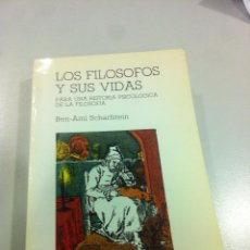 Libros de segunda mano: LOS FILÓSOFOS Y SUS VIDAS - BEN-AMI SCHARFSTEIN - CÁTREDA - MADRID - 1984 - DIFICIL DE ENCONTRAR.. Lote 43144277