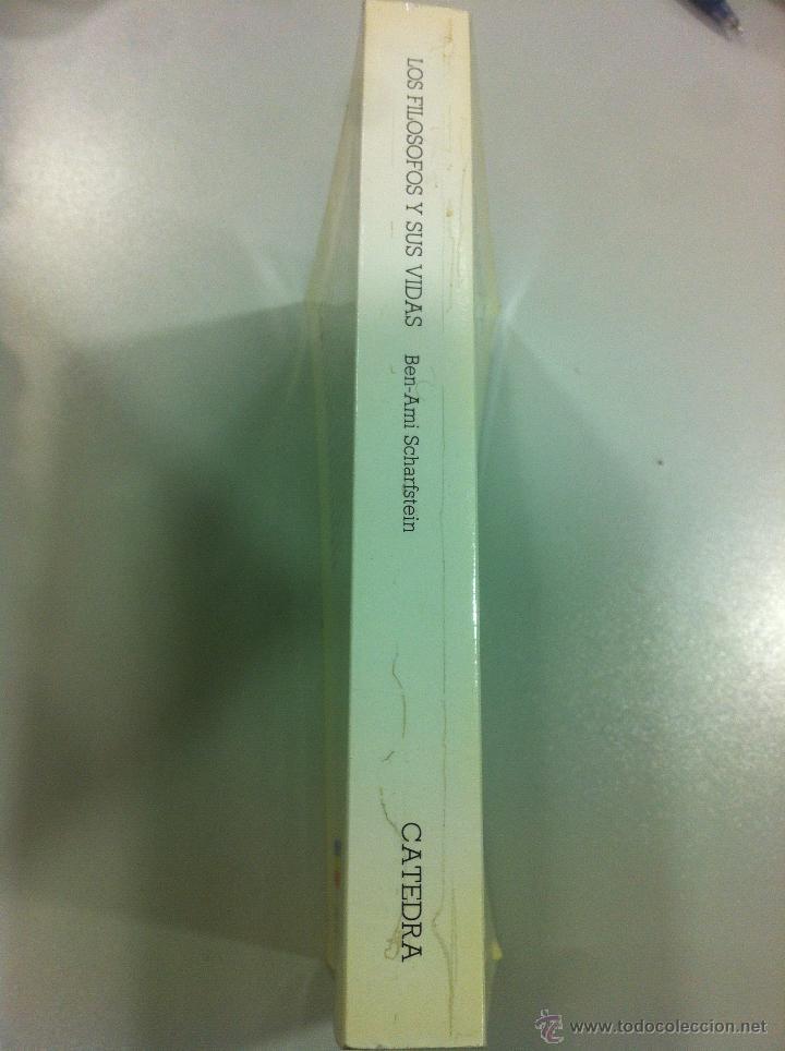Libros de segunda mano: Los filósofos y sus vidas - Ben-Ami Scharfstein - Cátreda - Madrid - 1984 - Dificil de encontrar. - Foto 2 - 43144277
