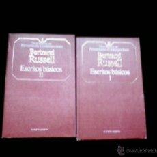 Libros de segunda mano: BERTRAND RUSSELL. ESCRITOS BASICOS I Y II. PLANETA-AGOSTINI. Lote 181438415