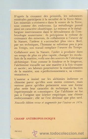 Libros de segunda mano: FORGERONS ET ALCHIMISTES, MIRCEA ELIADE, FLAMMARION PARIS 1977, RÚSTICA, 186 PÁGS, 13X19CM - Foto 2 - 43779201