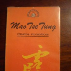 Libros de segunda mano: MAO TSE TUNG - ENSAYOS FILOSOFICOS. Lote 44900150